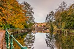 Rio Wansbeck abaixo da ponte de Oldgate Imagens de Stock Royalty Free
