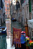 Rio water channel Venezia. A typical water channel named Rio - Venezia - Italy Royalty Free Stock Photography