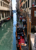 Rio water channel Venezia. A typical water channel named Rio wih gondole - Venezia - Italy Stock Photo