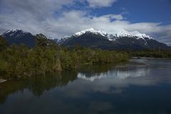 Rio Yelcho in Chilean Patagonia royalty free stock photo