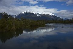 Rio Yelcho in Chilean Patagonia stock photography