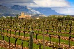 Rioja Weinkellerei Stockbild