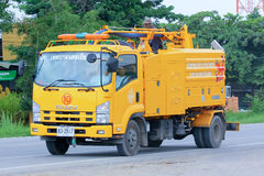 Riolerings schone vrachtwagen stock foto's