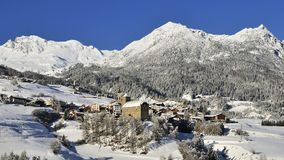 Riom, Albula Alpen, Switzerland Royalty Free Stock Photography