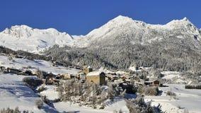 Riom, alpi del distretto di Albula, Svizzera Fotografia Stock Libera da Diritti