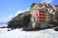 Riomaggiore в Cinque Terre, Лигурии, Италии стоковая фотография