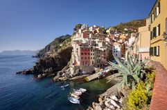 Riomaggiore. Village,Cinque Terre - Italy Royalty Free Stock Photography