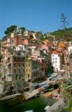 Riomaggiore in the Cinque terre royalty free stock image