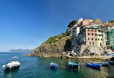 Riomaggiore, Cinque Terre Stock Afbeeldingen