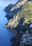 Riomaggiore in Cinque Terre. Morning in Riomaggiore, Cinque Terre, Italy Royalty Free Stock Photography