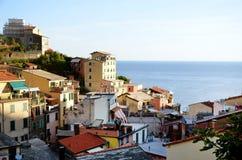 Riomaggiore Cinque Terre стоковое изображение rf