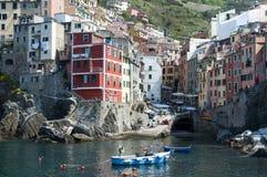 Riomaggiore - Cinque terre royalty-vrije stock afbeeldingen
