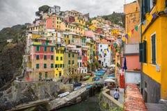 Riomaggiore Cinque Terre Royalty-vrije Stock Fotografie