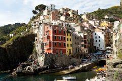 Riomaggiore Cinque Terre Royaltyfria Bilder