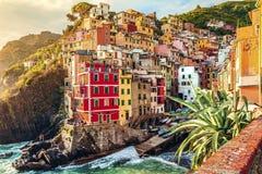 Riomaggiore, Cinque Terre, Italië Royalty-vrije Stock Afbeelding
