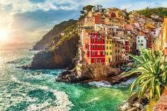 Riomaggiore, Cinque Terre, Italië Stock Afbeelding