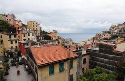 Riomaggiore, Cinque Terre, Italië Stock Foto