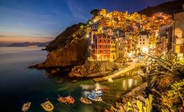 Riomaggiore, Cinque Terre - Italië royalty-vrije stock fotografie
