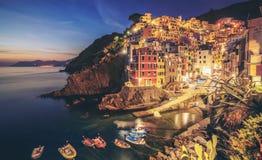 Riomaggiore, Cinque Terre - Itali? stock fotografie