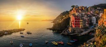 Riomaggiore, Cinque Terre - Itali? stock afbeelding