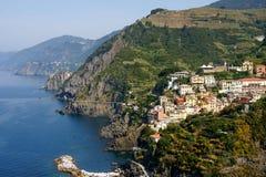 Riomaggiore, Cinque Terre, Italia Imágenes de archivo libres de regalías