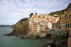 Riomaggiore, Cinque Terre, Italia Imagenes de archivo