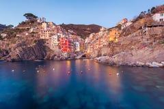 Riomaggiore, Cinque Terre, Italie Photo stock