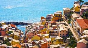 Riomaggiore Cinque Terre Italie Photo stock