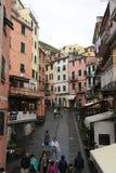 Riomaggiore, Cinque Terre, Italie Image stock