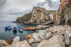 Riomaggiore, Cinque Terre, Italie - port Photographie stock