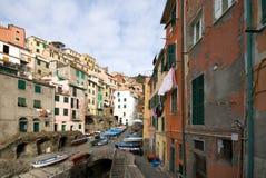 Riomaggiore, Cinque Terre, Italien stockfotografie