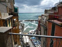Riomaggiore, Cinque Terre, Italien lizenzfreie stockfotografie