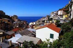 Riomaggiore Cinque Terre, Italien Royaltyfria Bilder