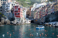 Riomaggiore - Cinque Terre stock images