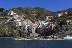 Riomaggiore in Cinque Terre in Italy Royalty Free Stock Photography