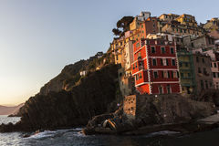 Riomaggiore in Cinque Terre in Italy Royalty Free Stock Photo