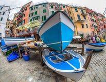 Riomaggiore, Cinque Terre, Italy - Boat Wharf Royalty Free Stock Image