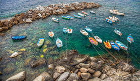 Riomaggiore, Cinque Terre, Italy - Boats Royalty Free Stock Photography