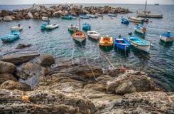Riomaggiore, Cinque Terre, Italy - Boats III Stock Image