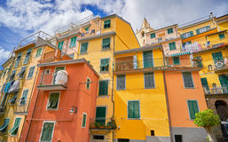Riomaggiore Cinque Terre Italy Coast foto de stock
