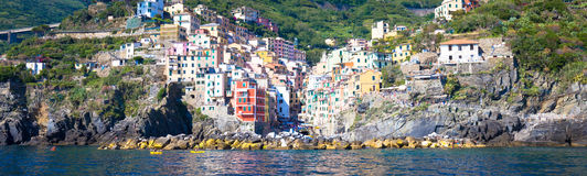Riomaggiore in Cinque Terre, Italy - Summer 2016 - view from the Stock Photography