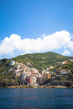 Riomaggiore in Cinque Terre, Italy - Summer 2016 - view from the Royalty Free Stock Photo