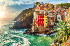 Riomaggiore, Cinque Terre, Italy Stock Image