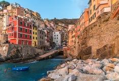 Riomaggiore in  Cinque Terre, Italy Stock Images