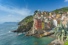Riomaggiore on the Cinque Terre Royalty Free Stock Images