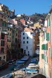 Riomaggiore, Cinque Terre, Liguria, Italia Fotografia Stock