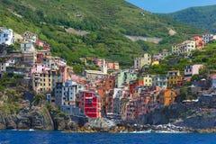 Riomaggiore, Cinque Terre, Liguria, italy obraz stock