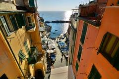 Riomaggiore, Cinque Terre, Liguria, Italy fotografie stock libere da diritti