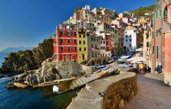 Riomaggiore, Cinque Terre, Liguria, Italy immagine stock