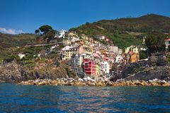 Riomaggiore Cinque Terre. In Liguria, Italy Royalty Free Stock Photo
